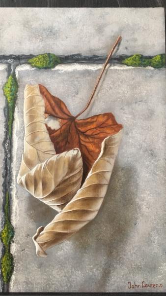 Herfstblad bruin